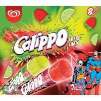 Helado de lima-limón-fresa CALIPPO, 8 uds., caja 840 g