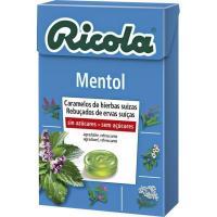 Caramelos mentol sin azúcar RICOLA, caja 50 g