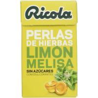 Perlas de limón-melisa sin azúcar RICOLA, caja 25 g