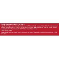 Paté de hígado de cerdo con hierro EROSKI, pack 3x78 g