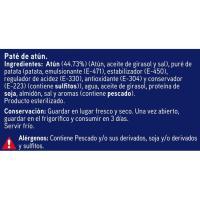 Paté de atún EROSKI, lata pack 2x78 g