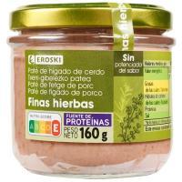 Paté a las finas hierbas EROSKI, frasco 125 g