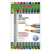 Rotuladore doble de colores ALPINO, 10uds