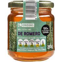 Miel de romero EROSKI, frasco 250 g