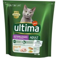 Alimento de pollo gato adulto esterilizado ULTIMA, paquete 800 g