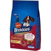Delicious de buey para perro BREKKIES, saco 3 kg