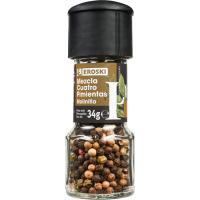 Molinillo mezcla 4 pimientas EROSKI, frasco 24 g