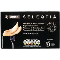 Ventresca de Bonito en aceite oliva Eroski SELEQTIA, lata 111 g