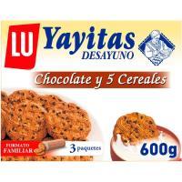 Galleta de chocolate-5 cereales YAYITAS, caja 600 g