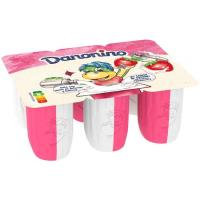 Danonino Duo Petit natural-fresa DANONE, pack 6x50 g