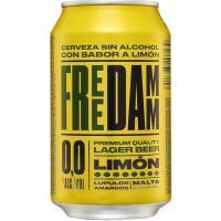 Cerveza sin alcohol sabor limón FREE DAMM, lata 33 cl
