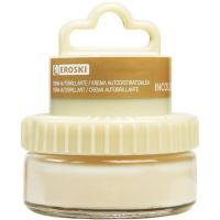 Crema incolora para calzado EROSKI, tarro aplicador 1 ud.