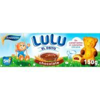 Bizcocho relleno de chocolate LU Ositos Lulu, caja 150 g