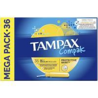 Tampón regular TAMPAX Compak, caja 36 uds
