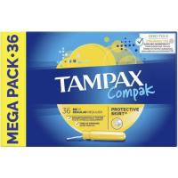 Tampón regular TAMPAX Compak, caja 36 unid.