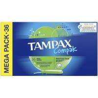 Tampón super TAMPAX Compak , caja 36 uds.
