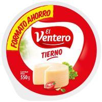 Queso tierno EL VENTERO, pieza 550 g
