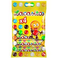 Grageas de chocolate LACASITOS, pack 4x20 g