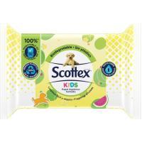 Papel higiénico húmedo junior SCOTTEX, paquete 76 uds.