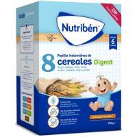 Papillas 8 Cerales efecto bífidus NUTRIBEN, caja 600 g