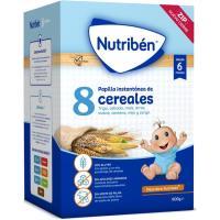 Papillas 8 cereales NUTRIBEN, caja 600 g