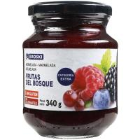 Mermelada de frutas del bosque EROSKI, frasco 340 g