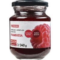 Mermelada de frambuesa EROSKI, frasco 340 g