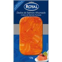 Salmón ahumado dados ROYAL, bandeja 120 g