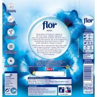 Suavizante concentrado azul FLOR, botella 53 dosis