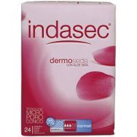 Compresa incontinencia normal INDASEC Discreet, paquete 24 uds.