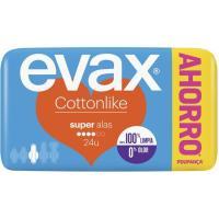 Compresa super con alas EVAX Cottonlike, paquete 24 uds