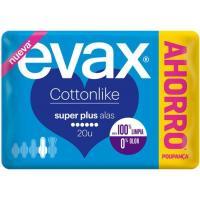 Compresa super plus con alas EVAX Cottonlike, paquete 20 uds