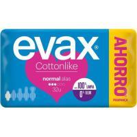 Compresa normal con alas EVAX Cottonlike, paquete 32 uds