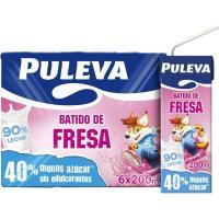 Batido de fresa PULEVA, pack 6x200 ml