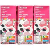 Batido de fresa EROSKI, pack 6x200 ml
