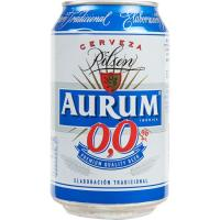 Cerveza sin alcohol AURUM, lata 33 cl