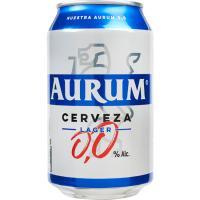 Cerveza sin alcohol AURUM, lata 33 cl