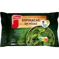 Espinacas en hoja FINDUS, bolsa 400 g