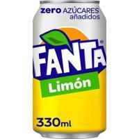 Refresco de limón FANTA Zero, lata 33 cl