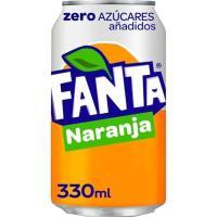 Refresco de naranja FANTA Zero, lata 33 cl
