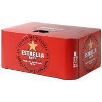 Cerveza ESTRELLA DAMM, pack 12x33 cl