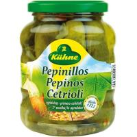 Pepinillos agridulces KUHNE, frasco 185 g