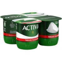 Activia natural azucarado DANONE, pack 4x120 g