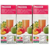 Bebida de melocotón EROSKI, pack 6x200 ml