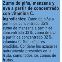 Zumo de piña y manzana EROSKI, pack 6x200 ml