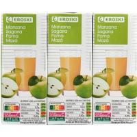 Bebida de manzana EROSKI, pack 6x200 ml