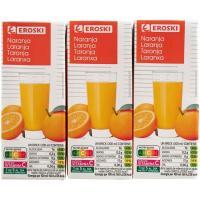 Bebida de naranja EROSKI, pack 6x200 ml