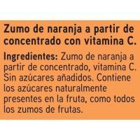 Zumo de naranja EROSKI, pack 6x200 ml