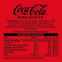 Refresco de cola COCA COLA ZERO, botellín 50 cl
