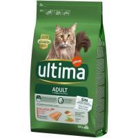 Alimento de salmón-arroz gato adulto ULTIMA, saco 1,5 kg